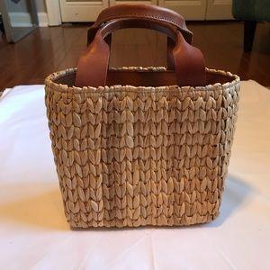 J Crew basket bag